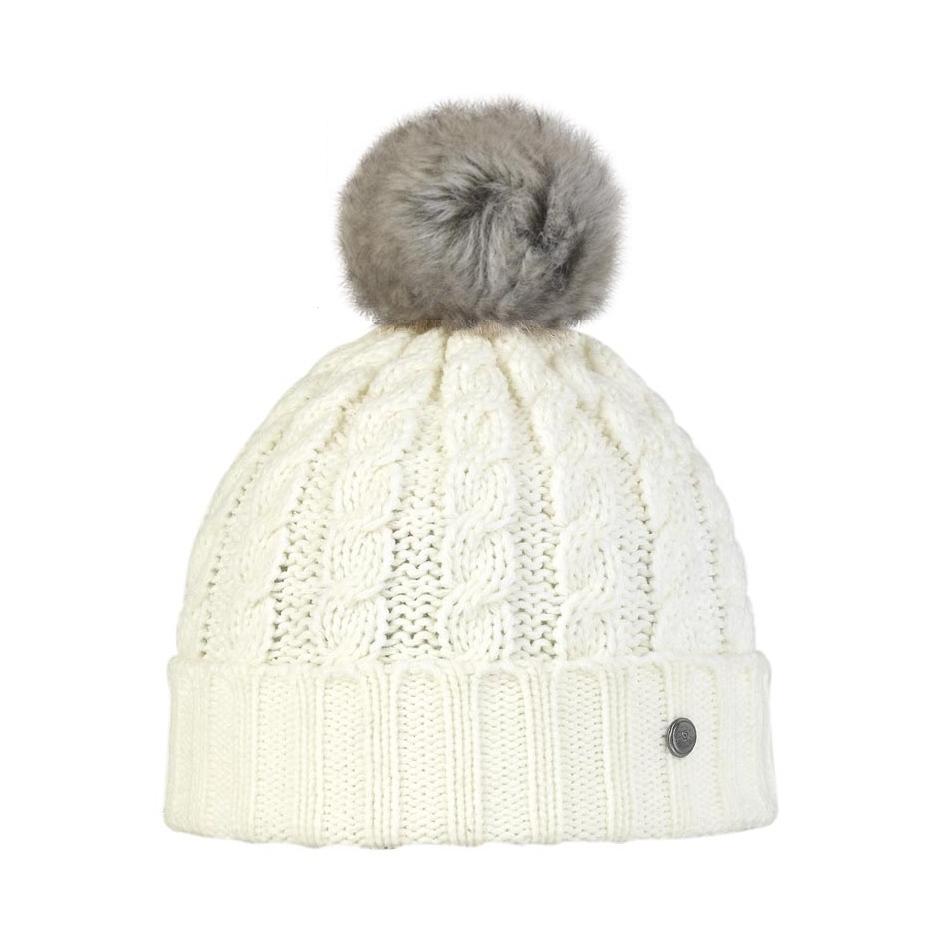 bonnet blanc avec pompon fourrure eco imitation lapin blue melon. Black Bedroom Furniture Sets. Home Design Ideas