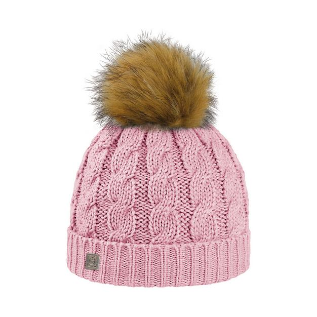 Bonnet Junior Pompon Eco Fourrure Rose