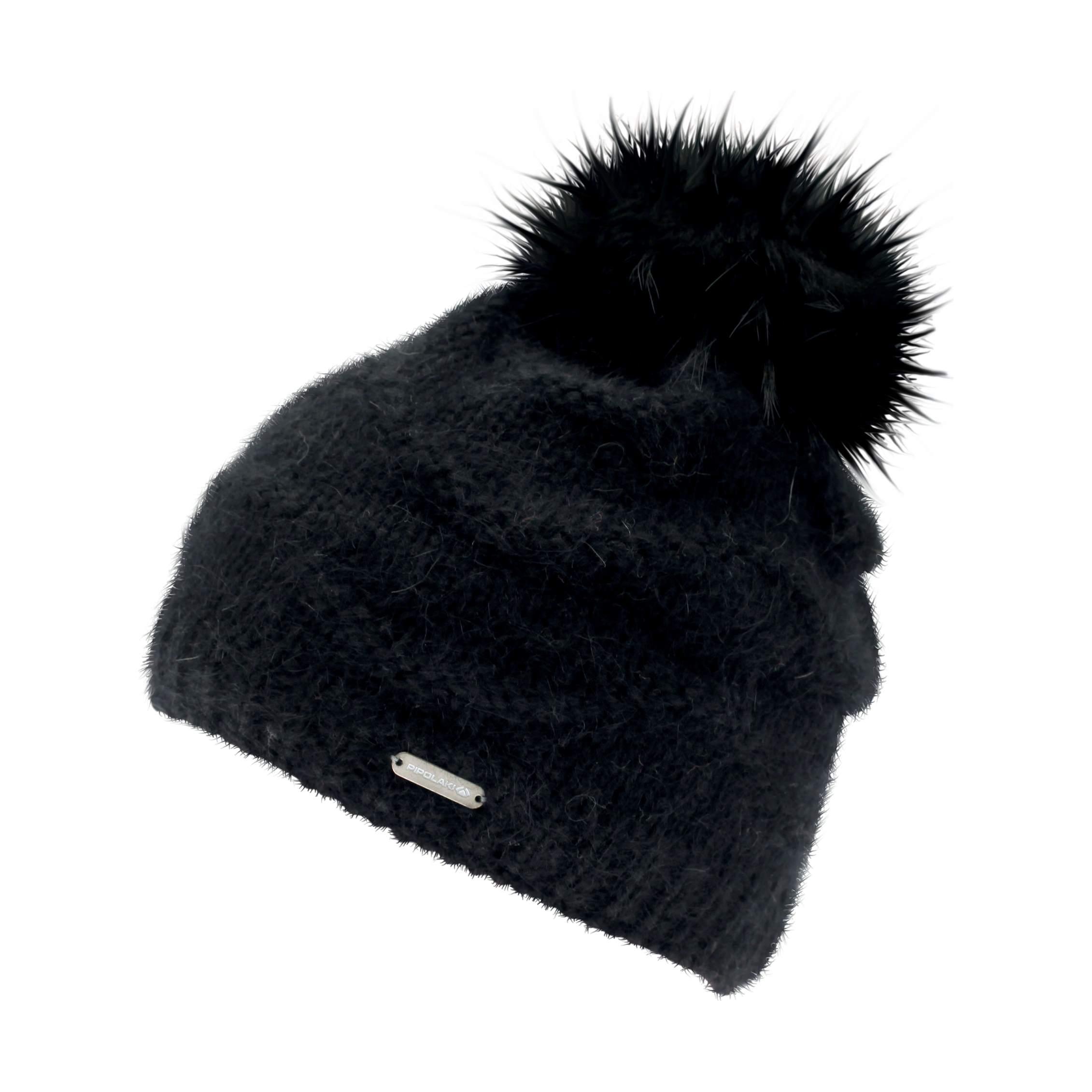 Bonnet Pompon Fourrure Naiade Noir