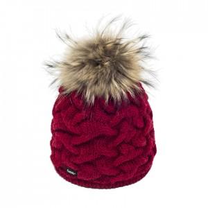 bonnet pelita pompon fourrure