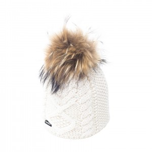 eisbar mirella blanc bonnet pompon fourrure