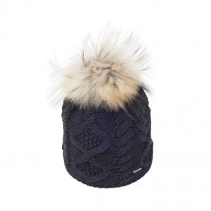 eisbar mirella noir bonnet pompon fourrure