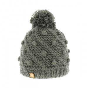bonnet gris pompon R essential