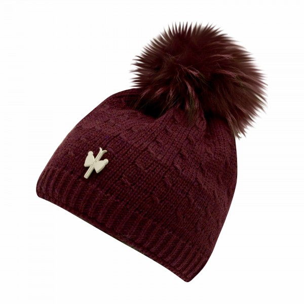 bonnet pompon fourrure