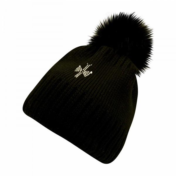 bonnet pompon fourrure shiny