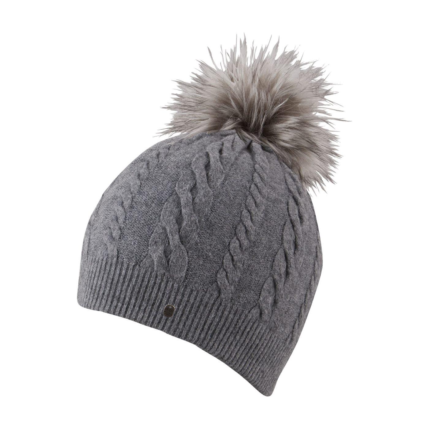 8eb2238afbc Grey Vanessa Fake Fur Bobble Hat - Chillouts Fur Hats