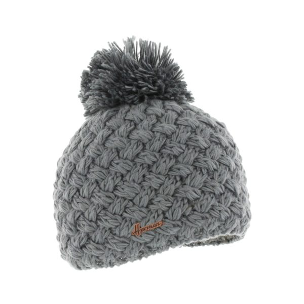 bonnet pompon Herman JUSTIN-8100-GRIS
