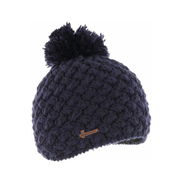 bonnet pompon Herman JUSTIN-8100-MARINE