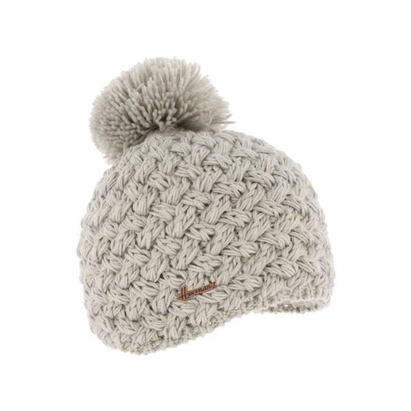 bonnet pompon Herman JUSTIN-8100-PERLE
