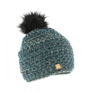 bonnet pompon fourrure Cold 4112 noir