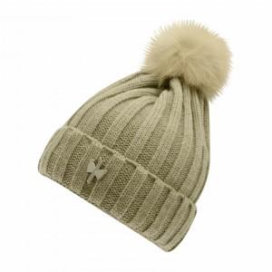 bonnet pompon fourrure VISON 053