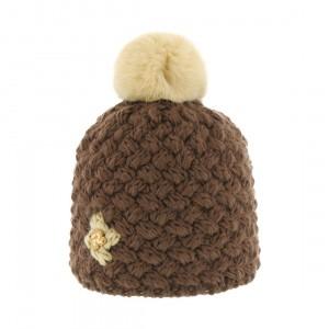 bonnet pompon fourrure lapin