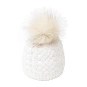 bonnet Karo blanc fausse fourrure