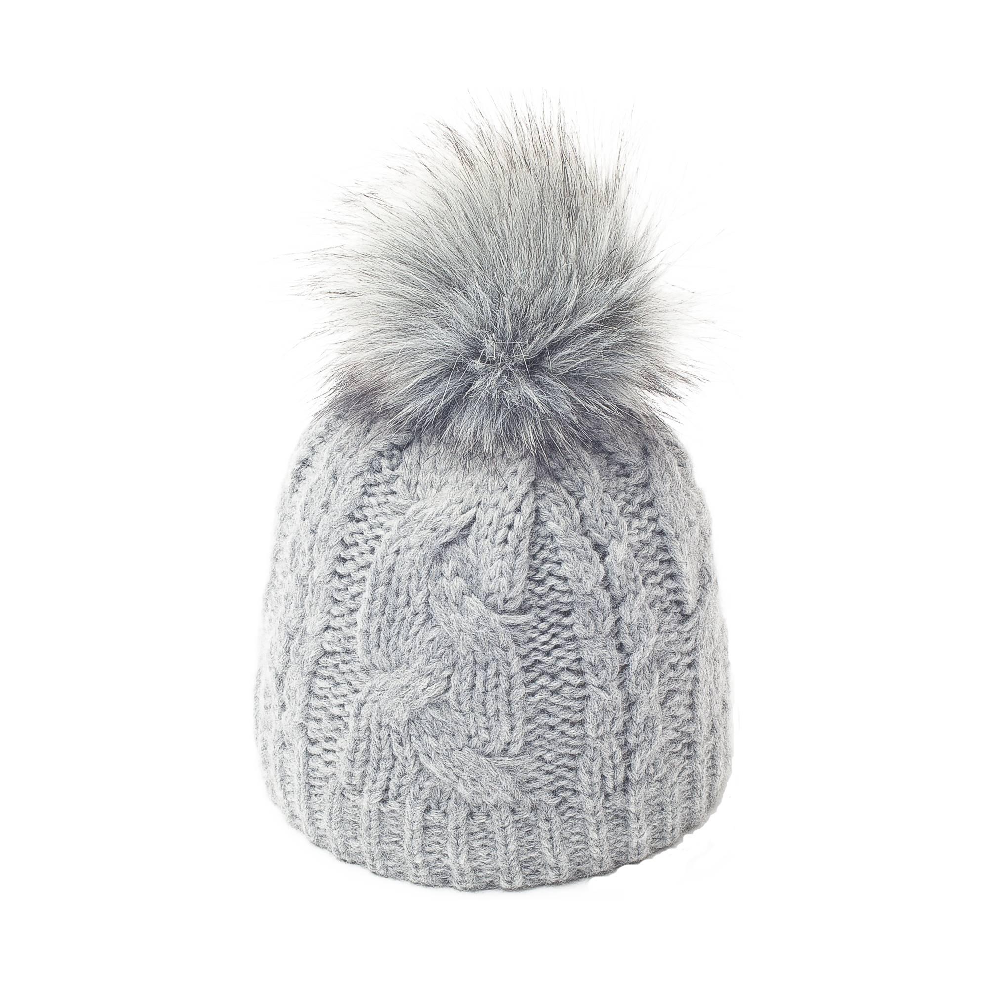 ed46ab71da7 bonnet femme bonnet femme. Bonnet gris perle pompon fourrure ...