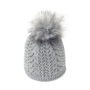bonnet c3 gris fausse fourrure