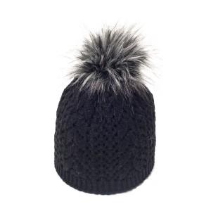 bonnet c3 noir fausse fourrure