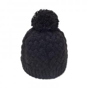 bonnet pompon Karo noir