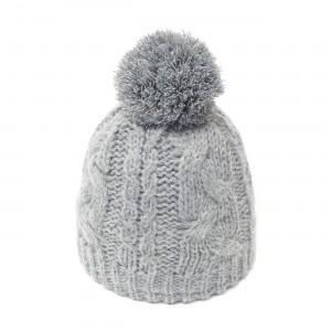 bonnet pompon Sabi gris