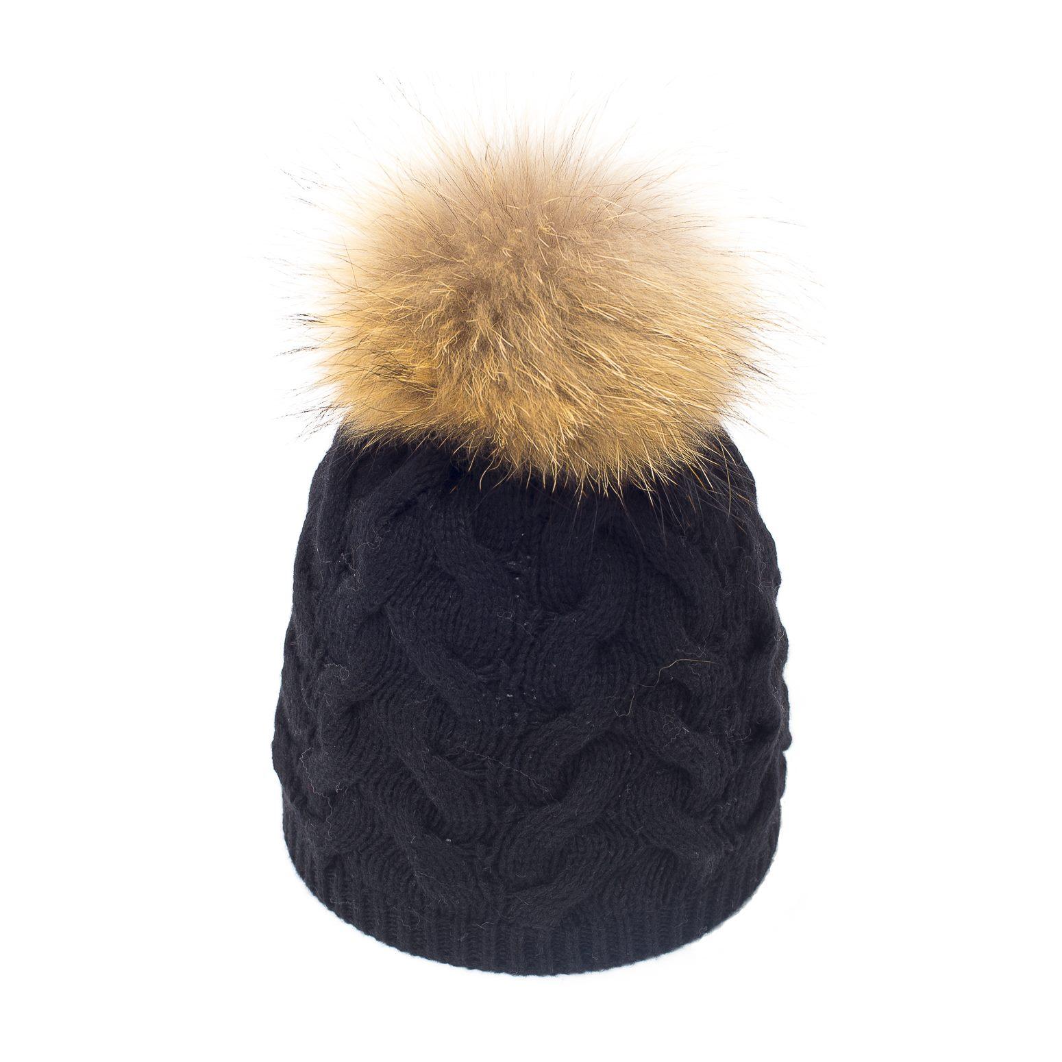 bonnet pompon fourrure little fran ais noir bonnet femme. Black Bedroom Furniture Sets. Home Design Ideas