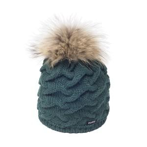 Bonnet Pompon Fourrure Eisbar Pelita vert