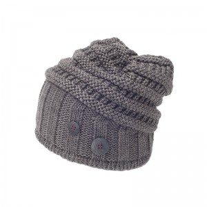 eisbar bonnet long cullen grey