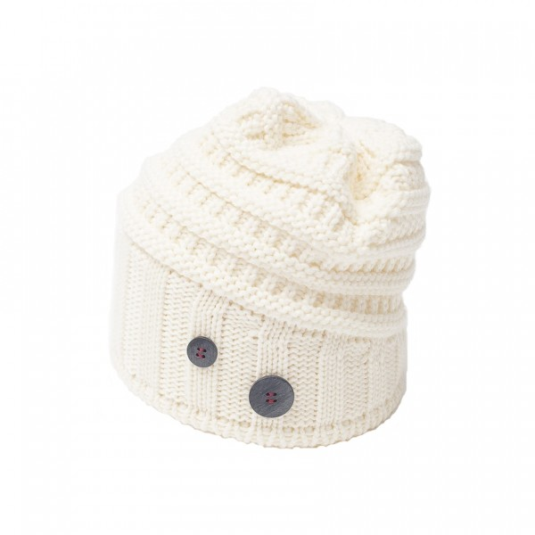 eisbar bonnet long cullen white