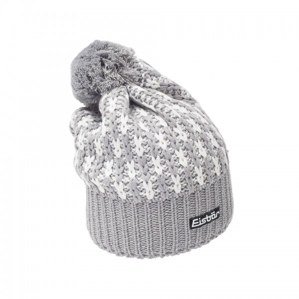 eisbar bonnet pompon lion grey