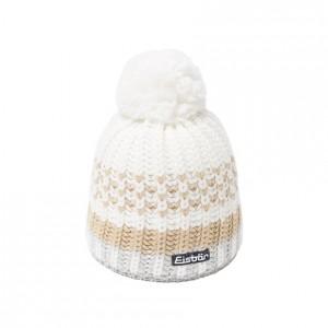 eisbar bonnet ski pompon lesly white