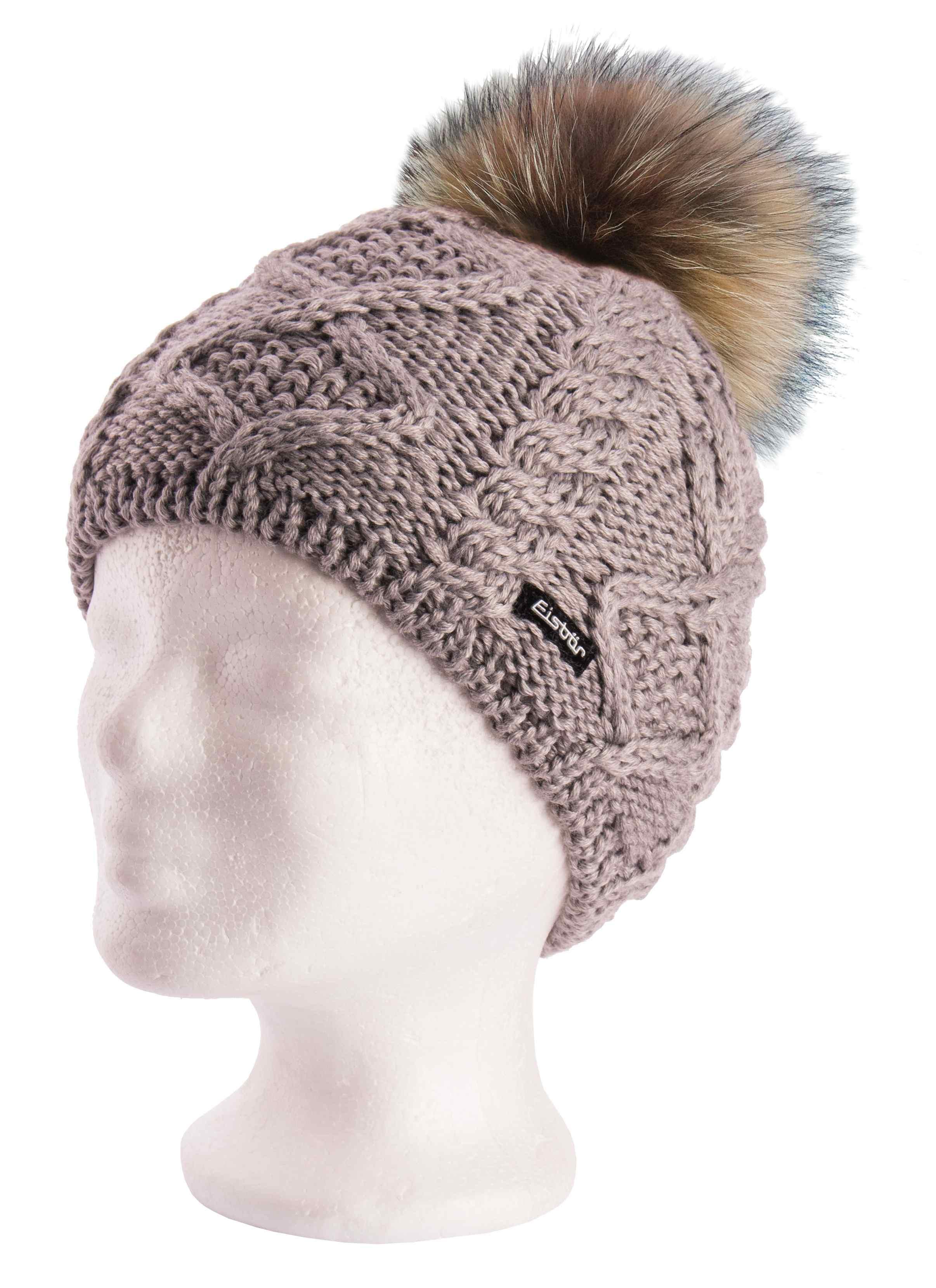23bca6bc237 Mirella Grey Fur Pompom Hat - Eisbar Hat