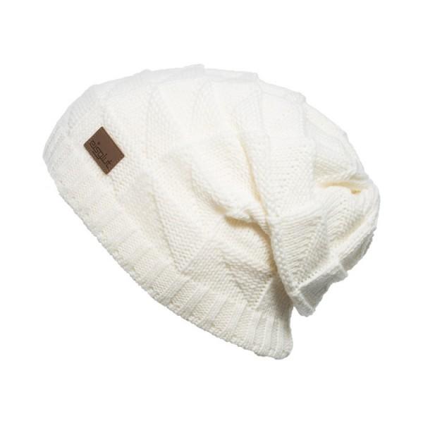 bonnet long oversize Eisglut jade-blanc