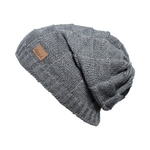bonnet long oversize Eisglut jade-gris
