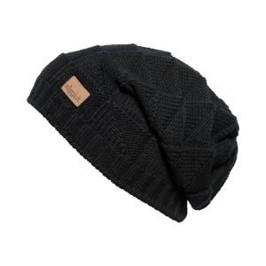 bonnet long oversize Eisglut jade-noir