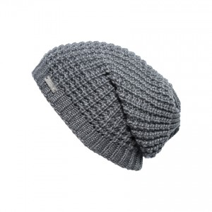 bonnet long oversize Eisglut taffy gris