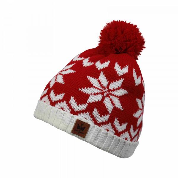 bonnet pompon montagne pipolaki 5872_hovden_010 rouge