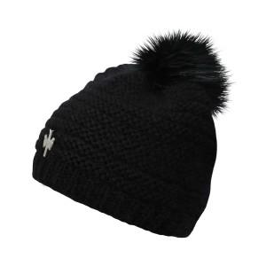 pipolaki bonnet pompon fourrure 5840 naiade noir