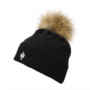pipolaki bonnet pompon fourrure noir EXCELLENCE 010