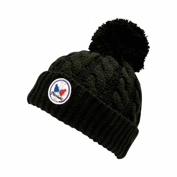 pipolaki bonnet pompon gstaad noir