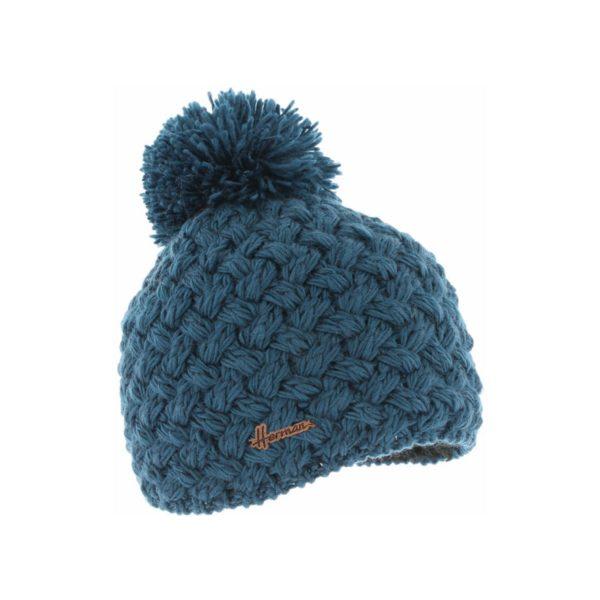 bonnet pompon Herman JUSTIN-8100-PETROLE