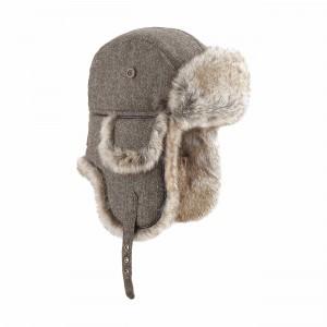 chapka wool eco russia marron BRF15F139_HBRW