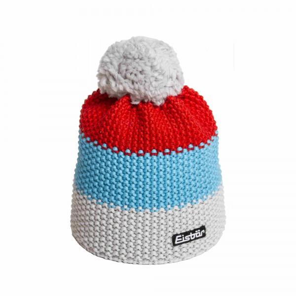 eisbar bonnet pompon star rouge gris bleu