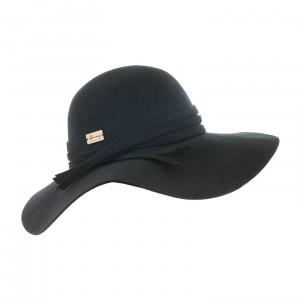 Chapeau Herman feutre EVITA Noir