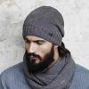 Bonnet long Eisglut oversize Diego gris 2