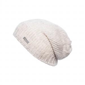 Bonnet long Eisglut oversize Valora beige chiné