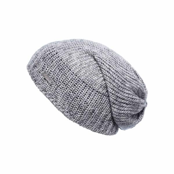 Bonnet long Eisglut oversize Valora gris chiné
