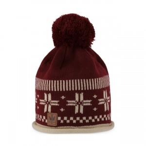 pipolaki bonnet pompon Horten bordeaux