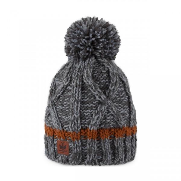 pipolaki bonnet pompon Satka Anthracite