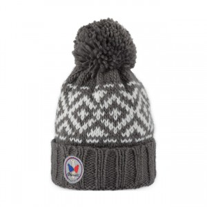pipolaki bonnet pompon eagle rock gris