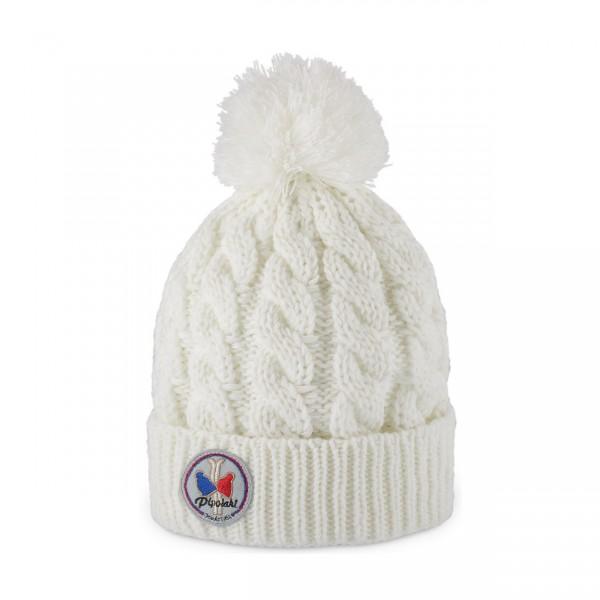 pipolaki bonnet pompon gstaad blanc