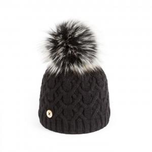 U Capa Black Lily Fake Fur Bobble Hat - Blue Melon 30cae156eea