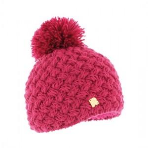 bonnet framboise pompon RMOUNTAIN-ICE-8100